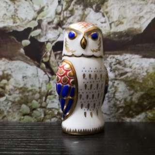 Vintage owl figurine porcelain