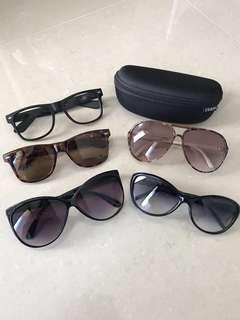 Lot of 4 Sunglasses and 1 Prescription Frame