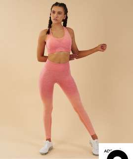 ‼️On Hand‼️ Gymshark Ombre Seamless Leggings- Peach Coral (Small)