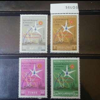[lapyip1230] 葡萄牙殖民地票集 1958年 原子能會議 新票四套 MNH