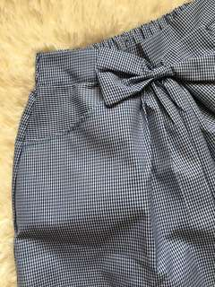 Bowed Midi Skirt (Checkered)