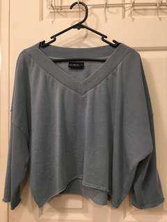 Cotton On Slate Blue V-Neck