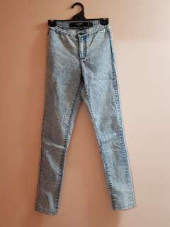 Light Blue Acid Wash Jeggings