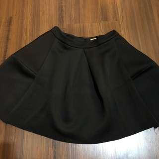 Solemio flare skirt rok kembang size L hitam office