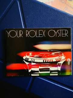 YOUR ROLEX OYSTER Booklet RARE 1981
