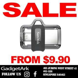SanDisk 16 32 64 128GB Ultra Dual USB 3.0 Thumb Drive OTG
