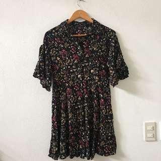 ForMe Printed Black Tunic Dress