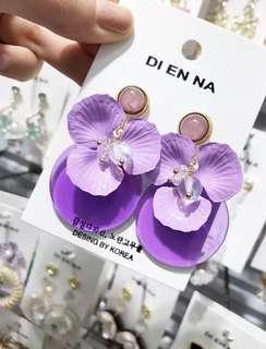 🚚 連線款,美到冒泡夢幻紫花朵耳環,賣場還有多款飾品,歡迎參觀選購