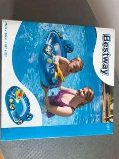 Racer car pool seat