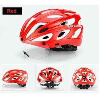 Rockbros Cycling Helmet 16 (Red)