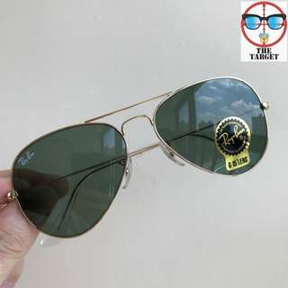 Ray Ban Sunglasses aviator lenses rb3025 58mm 62mm size made in Italy rayban original full packages