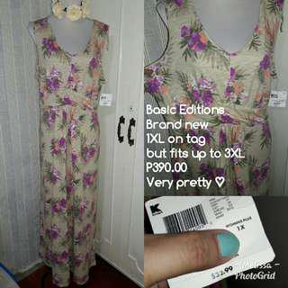 Brand New Plus Size Floral Dress