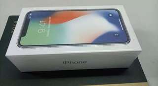 Sealed Iphone X 256Gb Silver Smartlocked