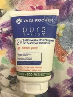 Yves rocher cleanser and exfoliator