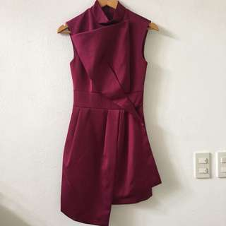 KeepSake Pretender Dress Red Plum