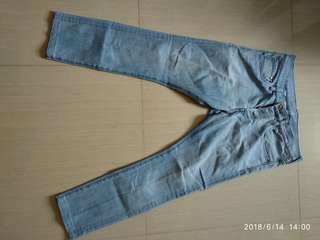 Skinny Low Waist Light Blue Jeans by H&M (Size 32)