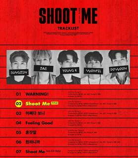 PREORDER: [SIGNED] DAY6 3RD MINI ALBUM 'SHOOT ME : YOUTH PART 1'