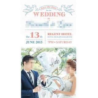 Wedding Invite/ Birthday/ Baby Shower