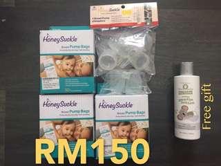 HoneySuckle Breast Pump Bags