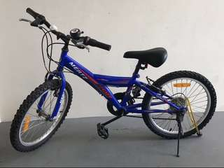 Mertz Techno Kids Blue Bicycle with removable Training Wheels