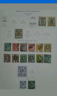 Straits Settlements 1907 1908 1911 King Edward VII Loose Set Up To $5 - 16v Used Malaya Stamps