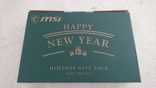 MSI Holiday Gift Pack (laptop backpack, gaming mouse) + Gaming Headset