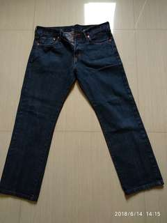 Men's Straight Regular Denim Waist Jeans by H&M (size 32)