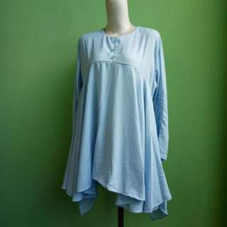 top blouse mint blue