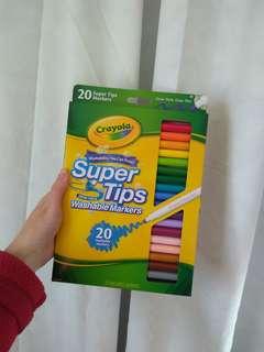 Crayola supertips for calligraphy!
