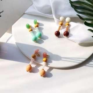 🚚 日韓復古氣質原木簡約耳環,賣場還有多款飾品,歡迎參觀選購