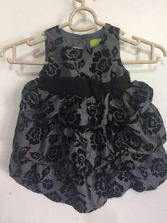 Penelope Mack Black Gray Dress Gown 12mos