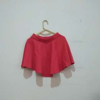 Red A-flare Mini Skirt / Rok A-flare Mini (Merah)