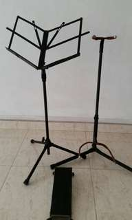 Guitar Stand, Score Stand and Leg Rest