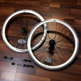 "Kinetix Comp 20"" 406 Wheelset for Tern Dahon Foldable Bicycles 20inch White Rims"