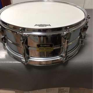 Yamaha steel snare drum.