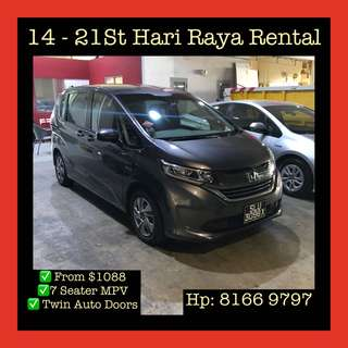 Hari Raya Car Rental 14-25th June