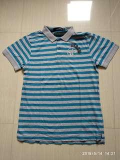 Samuel & Kevin Men's Polo Shirt Blue&Grey