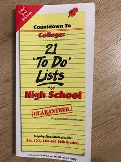 21 to do lists for high school
