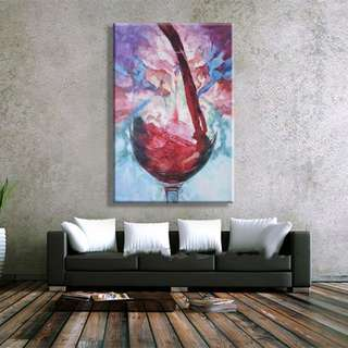 🚚 A Glass of Wine A Day Keeps the Doctor Away 50cm x 80cm