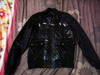 Zara man faux leather jacket