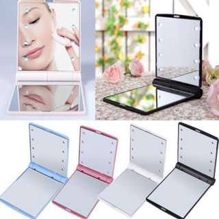 LED Make Up Mirror Cosmetic Mirror Folding Compact Pocket Gift mirror