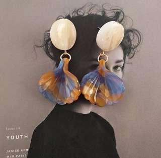 🚚 日韓幾何圓形醋酸板簡約可愛新款氣質耳環,賣場還有多款飾品,歡迎參觀選購