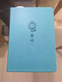 seafoam green din tai fung blank notebook with elastic secure