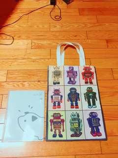 🚚 機器人帆布包。