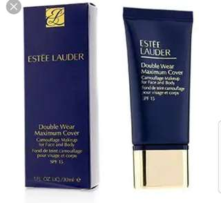 Estee Lauder Double Wear Maximum Cover Camouflage Makeup for Face and Body SPF15 in Creamy Vanilla 1N3 *Free silicone sponge worth $7.90!*