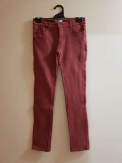 Light Red Jeggings