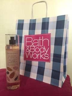 Bath and Body Works Almond and Vanilla Fine Fragrance Mist