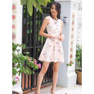🚚 Arianna Floral Dress in Pink