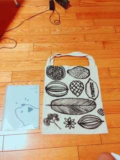 🚚 熱帶水果休息購物袋。