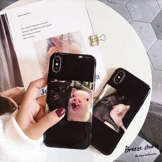 Couple pigs iPhone Case